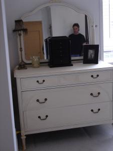 Greene painted dresser