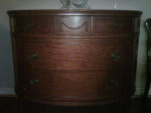 Mahogany Bow Front Dresser